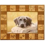 Giftworks Plus PET0044 Dog Squares, Alder Wood Frame, 13cm x 18cm