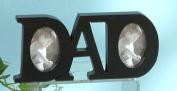 Unison Gifts NAB-329 20cm x 8.9cm . Word Tabletop Picture Frame - Dad Black