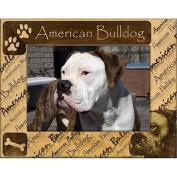 Giftworks Plus DBA0006 American Bulldog Alder Wood Frame 20cm x 25cm