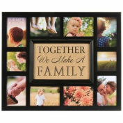 Burlap Together We Make A Family Collage
