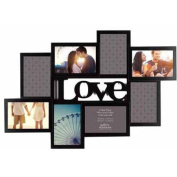 Black 8-Opening Love Cutout Collage
