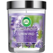 Air Wick Good To Be Home Scented Candle Air Freshener, Unwind Time French Lavender, 150ml