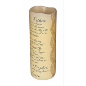 Carson Home Accents 107268 Candle Flameless Lords Prayer With Timer Vanilla 20cm .