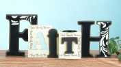 Unison Gifts SG-8889 12 L inch Faith Cut Out Word & T - Light Holder