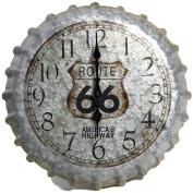 Taylor 36cm Route 66 Bottle Cap Metal Clock