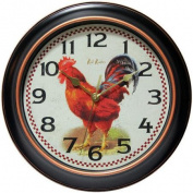 Infinity Instruments Rotterdam 30cm Silent Rooster Wall Clock