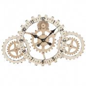 EcWorld Enterprises 7732125 Urban Designs Time To Gear Up 80cm . Wide Wall Clock