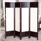 Gryphon Canvas 4 Panel Room Divider - Rosewood