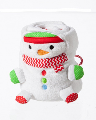 Blossom and Buds Snowman Rolled Blanket
