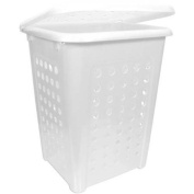Home Logic 2.2-Bu X-Large Capacity Lidded Laundry Hamper, White
