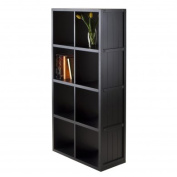 Winsome Timothy 130cm Bookcase with Wainscoting Panel