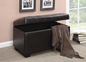 Coaster Tufted Seating Storage Ottoman, Dark Brown