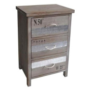 3-Drawer Cabinet with Rope Handles