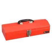 Excel 49cm . W x 15cm . D x 17cm . H Portable Steel Tool Box, Red