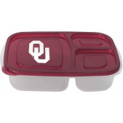 NCAA Oklahoma Sooners 3-Compartment Lunch Container, 2pk