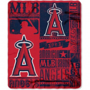 Northwest NOR-1MLB031020005RET 130cm x 150cm . Los Angeles Angels MLB Light Weight Fleece Blanket Strength Series
