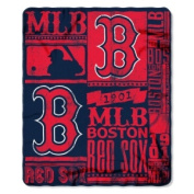 Northwest NOR-1MLB031020004RET 130cm x 150cm . Boston Red Sox MLB Light Weight Fleece Blanket Strength Series