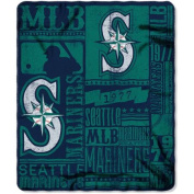 Northwest NOR-1MLB031020025RET 130cm x 150cm . Seattle Mariners MLB Light Weight Fleece Blanket Strength Series