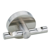 no drilling required Moon Wall Mount Double Robe Hook