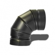 Metalbest DSP6E9 DSP 15cm Stove Pipe 90 Degree Non-Adjustable Elbow