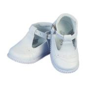 Angels Garment Toddler Girls White Buckle Christening Easter Shoes 4