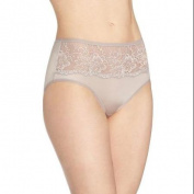Bali Womens One Smooth U Comfort Indulgence Satin with Lace Hipster Panty 5 Warm Steel
