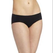Maidenform Womens Comfort Devotion Hipster Panty 8 Black Body Beige Lining
