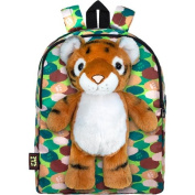 PetSac Rocky the Tiger with Green Camo Printed Backpack