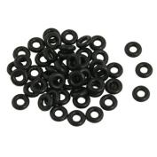 Black NBR O Rings Oil Seal Washer 7mm x 3mm x 2mm 50pcs