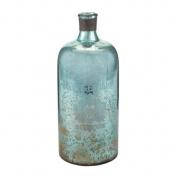 Sterling Industries 169-006 Accents Home Decor Decorative Bottles ;Aqua Antique Mercury