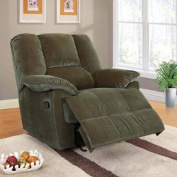 Oliver Collection Corduroy Glider Recliner, Multiple Colours