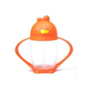 Lollacup Infant And Toddler Straw Cup - Happy Orange