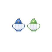 Lollacup Infant And Toddler Straw Cup, 2 Pack - Blue