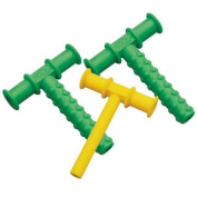 Chewy Tubes Teether, 3 Pack - Green/Yellow/Green