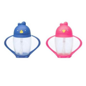 Lollacup Infant And Toddler Straw Cup, 2 Pack - Blue/Pink