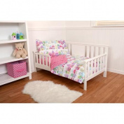 Pinwheel Cottages 4-Piece Toddler Bedding Set