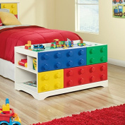 Sauder Primary Street Block Play Table, Soft White