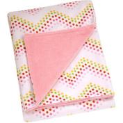 Pinwheel Floral Fusion Printed Velboa Blanket, Chevron Dot, Girl