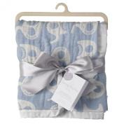 Living Textiles Baby Muslin Jacquard Elephant Blanket