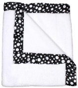 Dee Givens and CoRaindrops 1171 Raindrops 1171 Unisex White Flurr with Black Dots Receiving Blanket