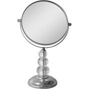 Elegant Home Fashions SM-DY7617 Freestanding Bath Magnifying Makeup Mirror