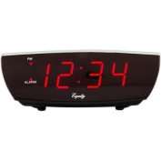Equity by La Crosse 75900 Red LED Alarm Clock with USB Charge Port