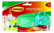 Command Large Caddy With 4 Adhesive Strips - 1.8kg. - Clear