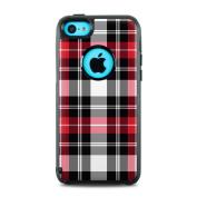 DecalGirl OC5C-PLAID-RED OtterBox Commuter iPhone 5c Skin - Red Plaid