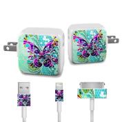 DecalGirl APCH-BFLYGLASS Apple iPad Charge Kit Skin - Butterfly Glass