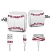 DecalGirl APCH-BASEBALL Apple iPad Charge Kit Skin - Baseball