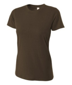 A4 NW3249 Womens Combed Ring-spun Short-Sleeve Tee - Brown Small