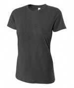 A4 NW3249 Womens Combed Ring-spun Short-Sleeve Tee - Charcoal Small