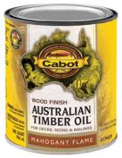Cabot Samuel 19459-05 Australian Timber Oil QT Mahogany Flame Wood Finish