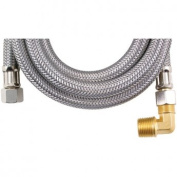 Certified Appliance DW60SSBL Braided Stainless Steel Dishwasher Connector with Elbow - 150cm .